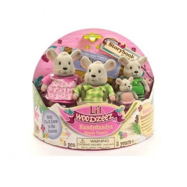 Li'l Woodzeez Mouse Family Set