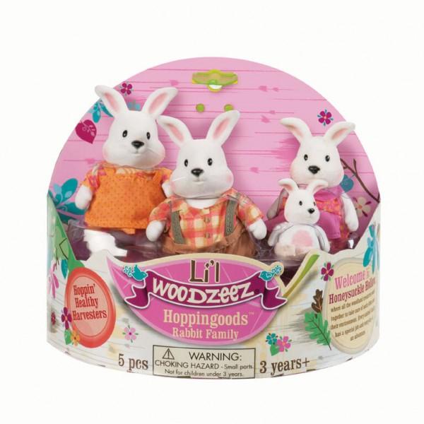 Li'l Woodzeez Hoppingoods Rabbit Family Set