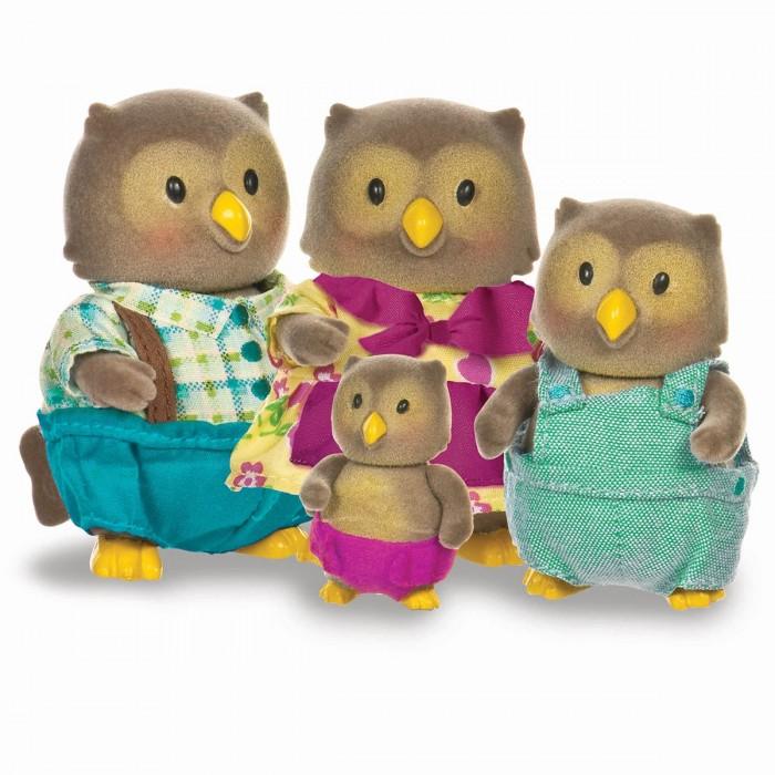 Lil Woodzeez Whooswhoos Owl Family with Storybook