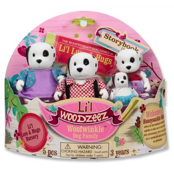 Li'l Woodzeez The Woofwinkle Dog Family with Storybook