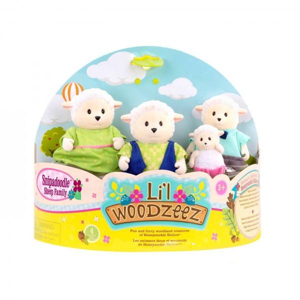 Li'l Woodzeez The Snipadoodles Sheep Family with Storybook