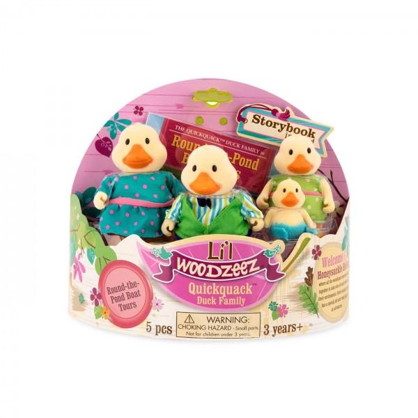 Li'l Woodzeez The Quickquack Duck Family with Storybook