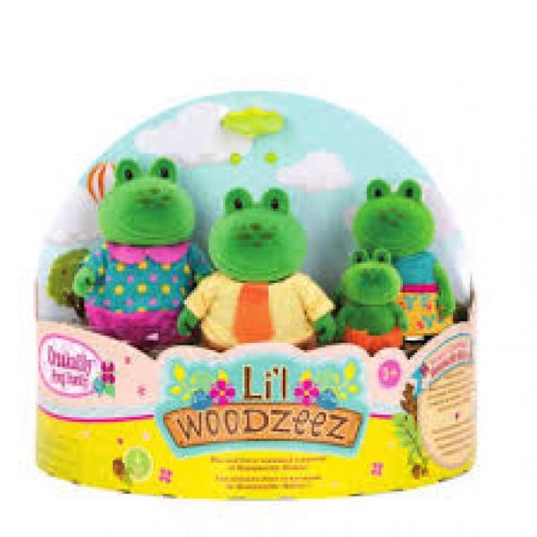 Li'l Woodzeez The Croakalily Frog Family with Storybook
