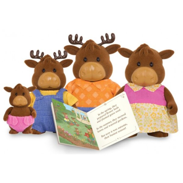 Li'L Woodzeez The Vanderhoof Moose Family with Storybook