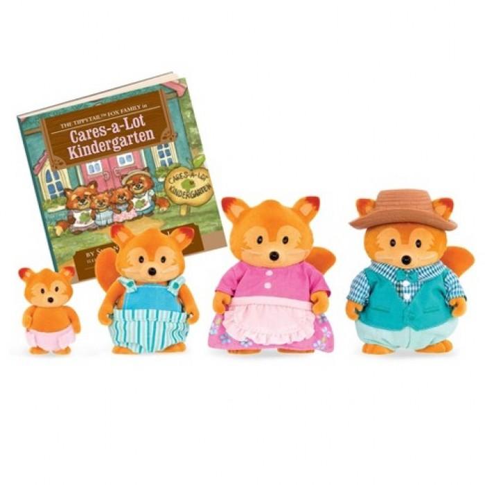 Li'l Woodzeez The Tippytail Fox Family with Storybook