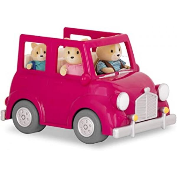 Li'l Woodzeez Pink Car with Suitcase