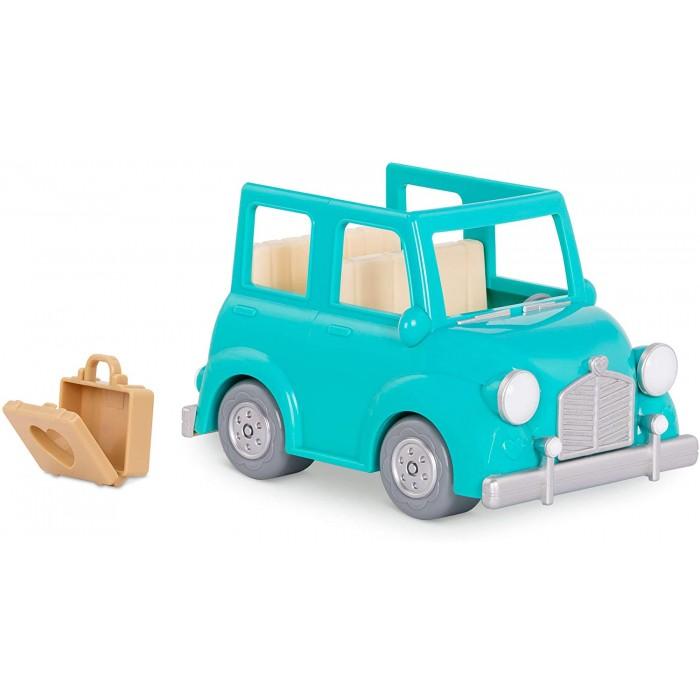 Li'l Woodzeez Blue Car with Suitcase