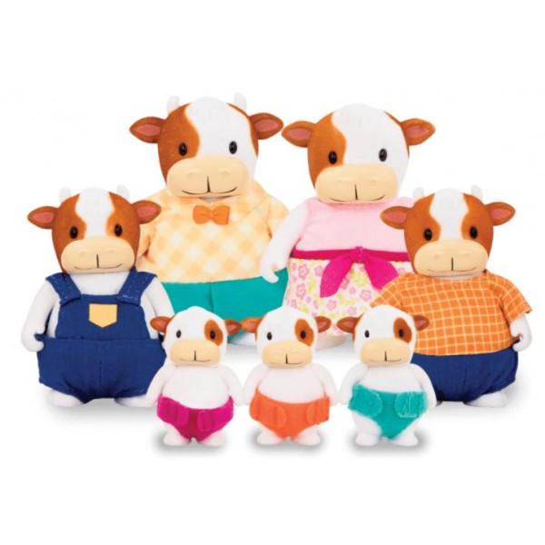 Li'l Woodzeez The FitzMoo Cow Family Set with Triplets