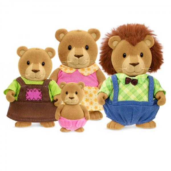 Li'l Woodzeez The Kingsberry Lion Family with Storybook