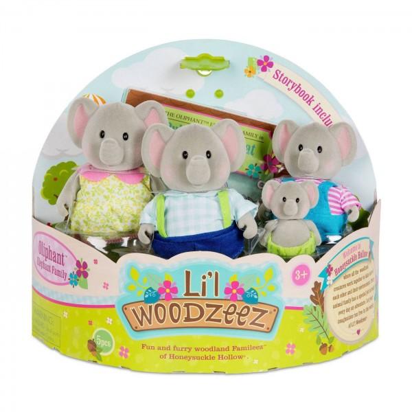 Li'l Woodzeez The Oliphant Elephant Family with Storybook