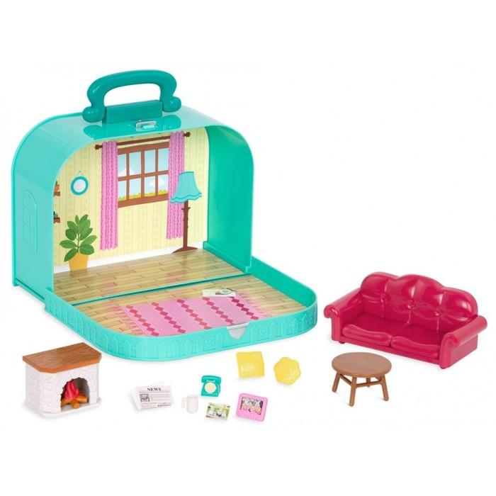 Li'l Woodzeez Blue Case with Accessories Living Room