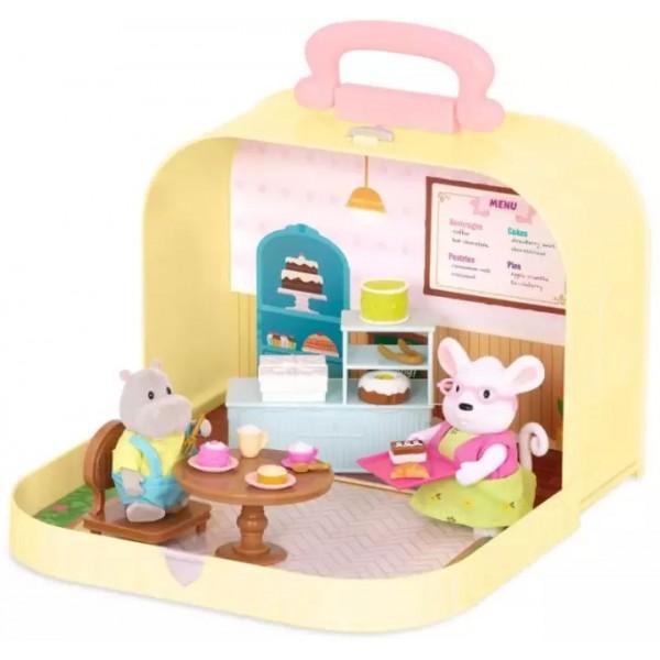 Li'l Woodzeez Travel Suitcase Pastry Shop Playset