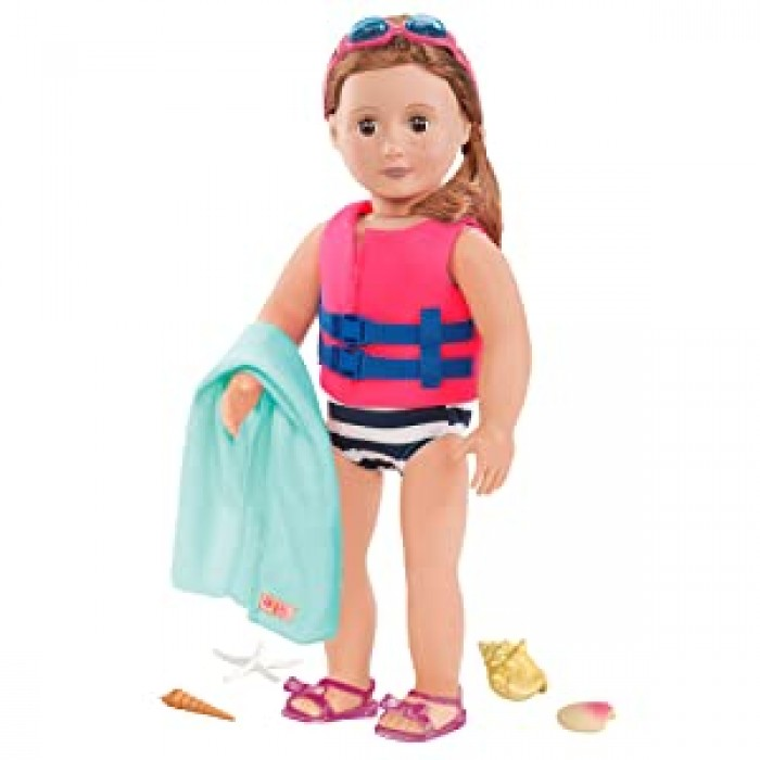 Our Generation Bathing Suit and Life Vest Outfit