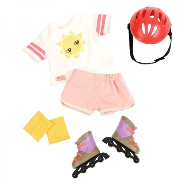 Our Generation Rollerblades and Outfit