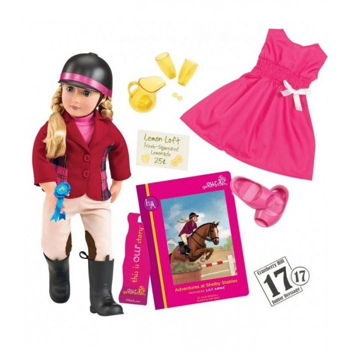 Our Generation Deluxe Lily Anna Doll with Book