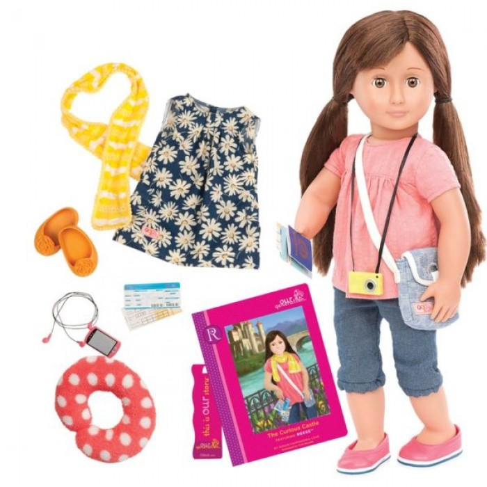 Our Generation Deluxe Reese Travel Doll with Book