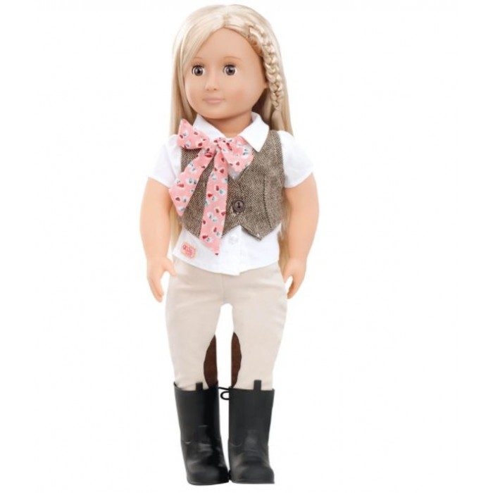 Our Generation Riding Doll with Tweed Vest Leah