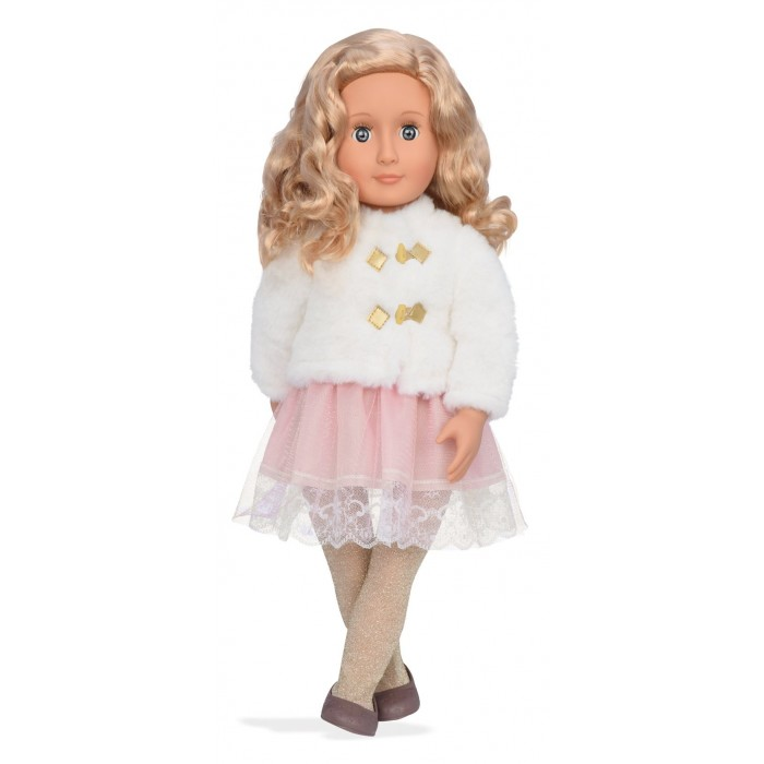 Our Generation Doll with White Faux Fur Jacket Halia