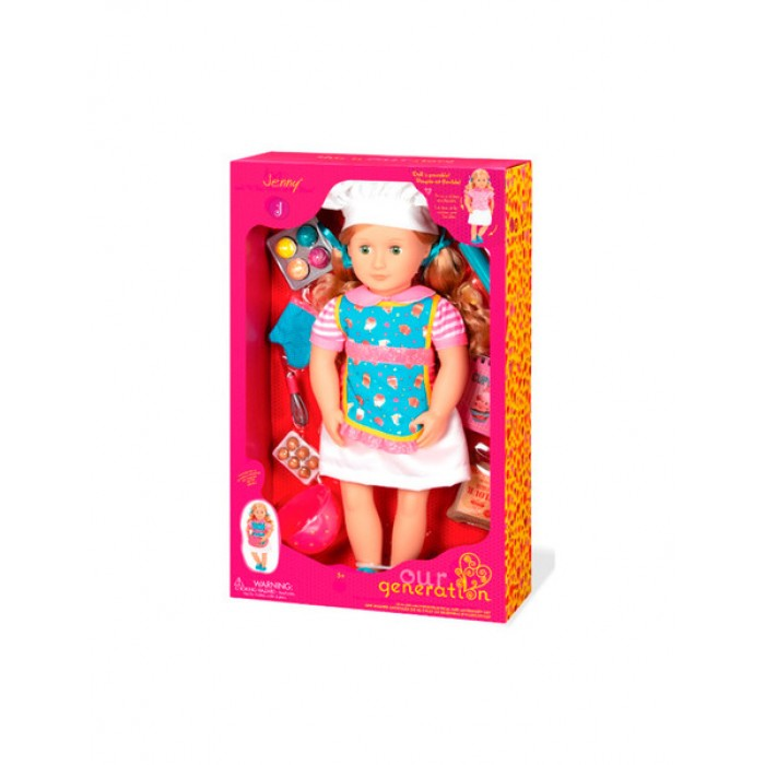 Our Generation Deluxe Jenny Doll with Book