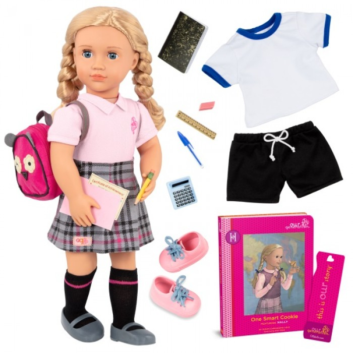 Our Generation Deluxe School Girl Doll with Book, Hally