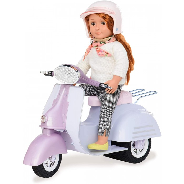 Our Generation Ride in Style Scooter - Purple and Blue