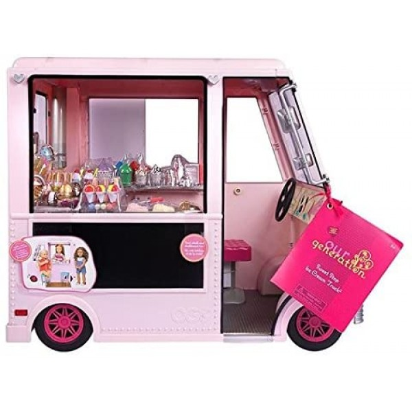 Our Generation Sweet Stop Ice Cream Truck Pink