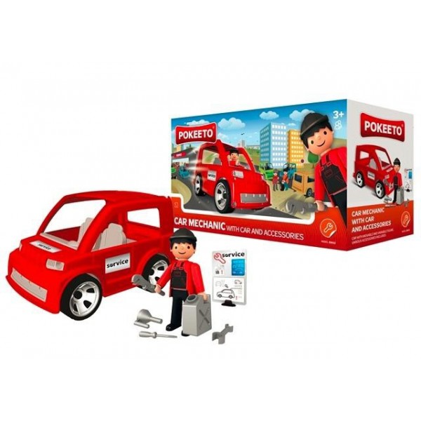 Pokeeto Car Mechanic with Car and Accessories