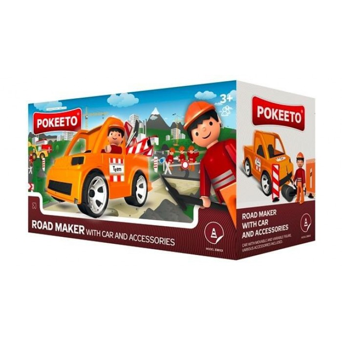 Pokeeto Road Maker with Car and Accessories