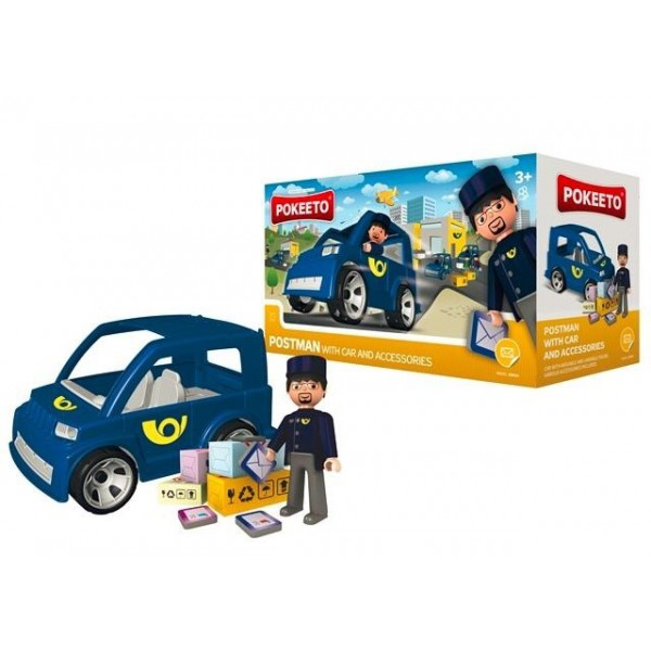 Pokeeto Postman with Car and Accessories