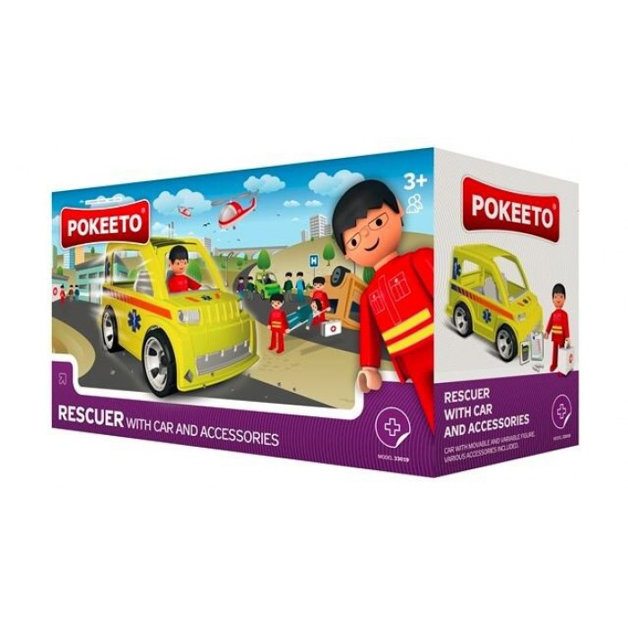 Pokeeto Rescuer with Car and Accessories